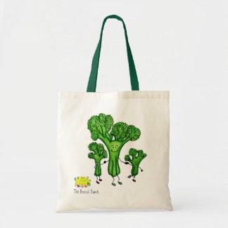 bolso del manojo del bróculi bolsa tela barata
