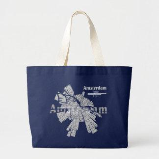 Bolso del mapa de Amsterdam Bolsa Tela Grande