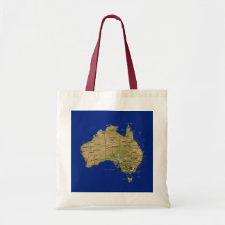 Bolso del mapa de Australia Bolsa Tela Barata