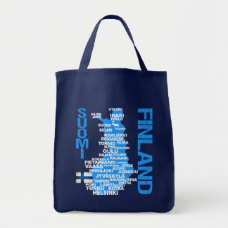 Bolso del MAPA de FINLANDIA - elija el estilo, col Bolsas