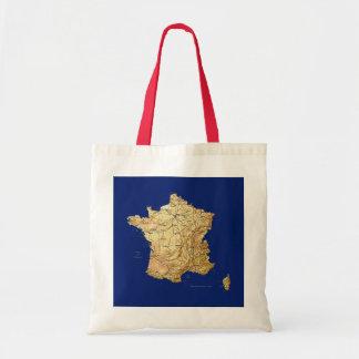 Bolso del mapa de Francia Bolsa Tela Barata