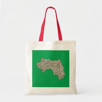 Bolso del mapa de Guinea-Conakry Bolsa Tela Barata