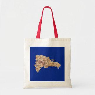 Bolso del mapa de la República Dominicana Bolsa Tela Barata