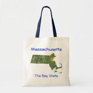 Bolso del mapa de Massachusetts
