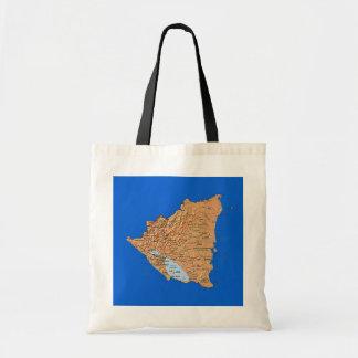 Bolso del mapa de Nicaragua Bolsa Tela Barata