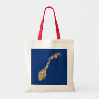 Bolso del mapa de Noruega Bolsa Tela Barata