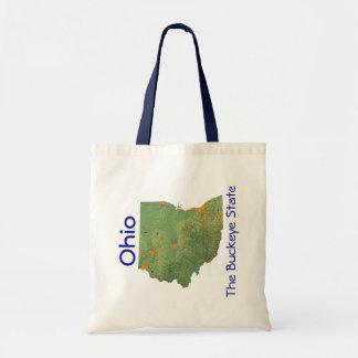 Bolso del mapa de Ohioan Bolsa De Mano