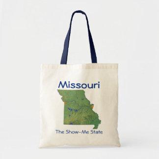 Bolso del mapa del Missourian Bolsas De Mano