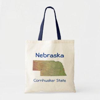 Bolso del mapa del Nebraskan Bolsa Tela Barata