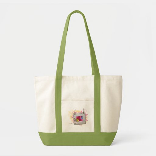 Bolso del marco de la flor bolsa