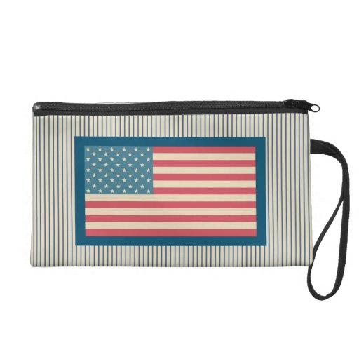 Bolso del mitón de la bandera americana del vintag