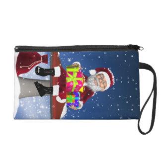 Bolso del mitón del navidad con Santa y los regalo