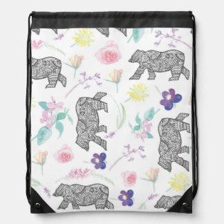 Bolso del modelo del oso de la flor mochila