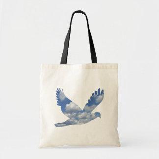 Bolso del modelo del pájaro de las nubes bolsa tela barata