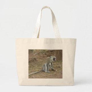 Bolso del mono de Vervet del Kenyan, safari africa Bolsas Lienzo