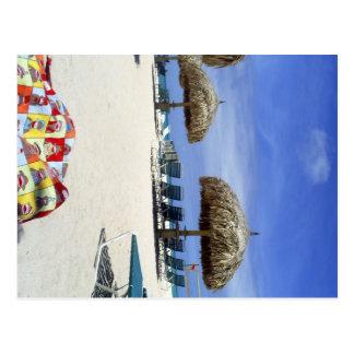 Bolso del mono del calcetín en Aruba en la playa Postal