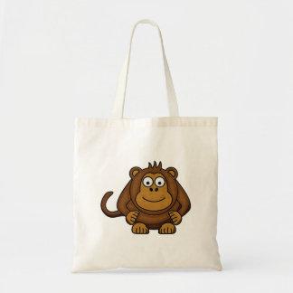Bolso del mono del dibujo animado bolsa tela barata