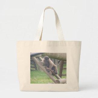 Bolso del mono lanoso, colección de los animales bolsa lienzo