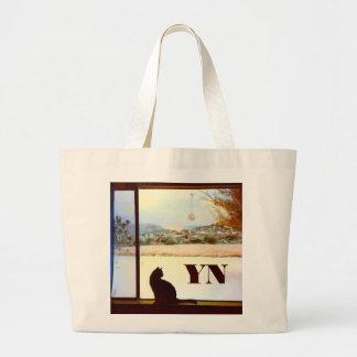 Bolso del monograma de la ventana del invierno de  bolsa de mano