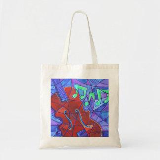 Bolso del mosaico de la música bolsa tela barata