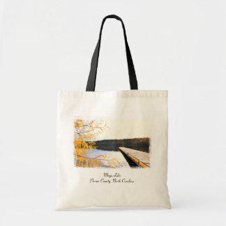 Bolso del muelle del barco del lago mayo bolsa tela barata