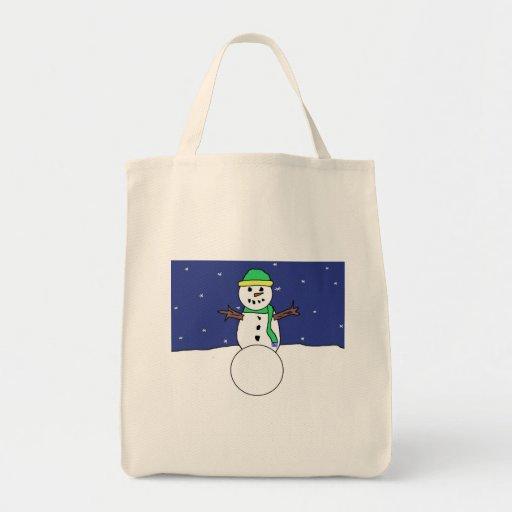 Bolso del muñeco de nieve bolsa tela para la compra