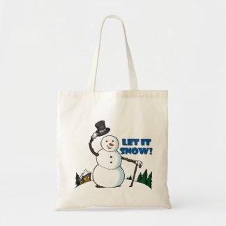 Bolso del muñeco de nieve bolsa tela barata