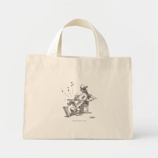 Bolso del músico de la sierra de cinta bolsas lienzo