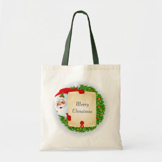 Bolso del navidad bolsas lienzo