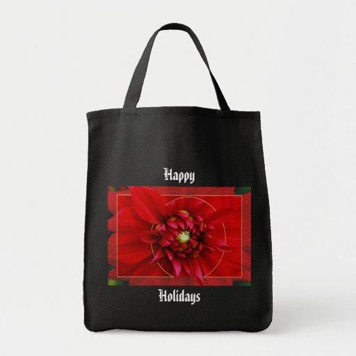 Bolso del navidad de la dalia bolsa