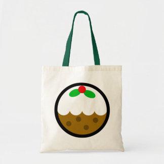 "Bolso del ""Navidad-Pudín"" de Andy Awesome® Bolsa Tela Barata"