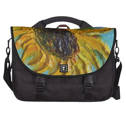 Bolso del ordenador del girasol bolsas para portátil