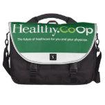 Bolso del ordenador del logotipo de Healthy.CoOp Bolsas Para Portátil