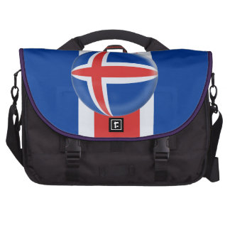 Bolso del ordenador portátil con la bandera del is bolsas para portátil