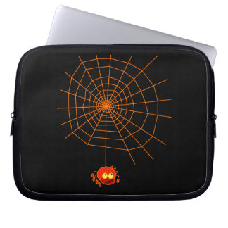 Bolso del ordenador portátil de Halloween del Web  Funda Ordendadores