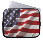 Bolso del ordenador portátil de la bandera america funda ordendadores