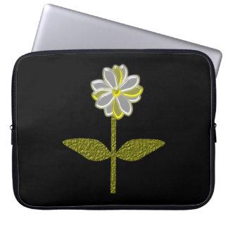 Bolso del ordenador portátil de la flor de la marg fundas computadoras
