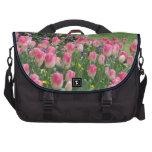 Bolso del ordenador portátil de las flores del ros bolsas para portátil