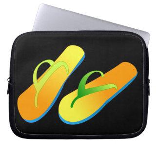 Bolso del ordenador portátil de los flips-flopes funda portátil