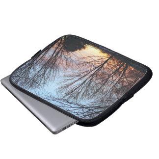 Bolso del ordenador portátil del cielo de diciembr mangas portátiles
