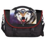 Bolso del ordenador portátil del lobo bolsa para ordenador