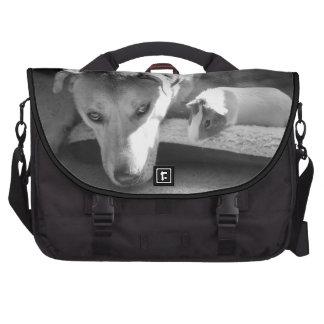 Bolso del ordenador portátil del perro y del conej bolsas de portatil