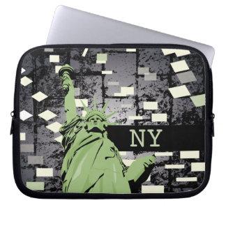 Bolso del ordenador portátil - estatua de la liber funda portátil