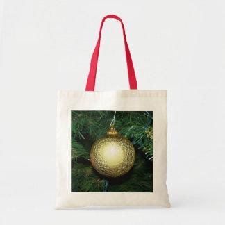 Bolso del ornamento de la bola del oro bolsa tela barata