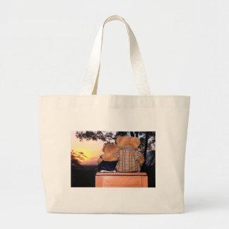 Bolso del oso de la puesta del sol bolsa de mano