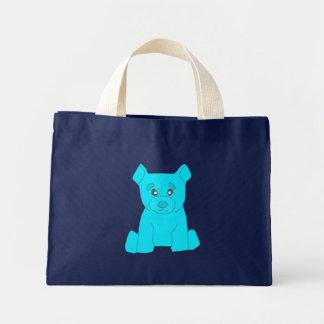 Bolso del oso de la turquesa bolsa de tela pequeña