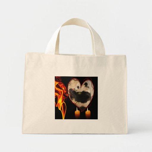 Bolso del oso de panda gigante bolsa lienzo