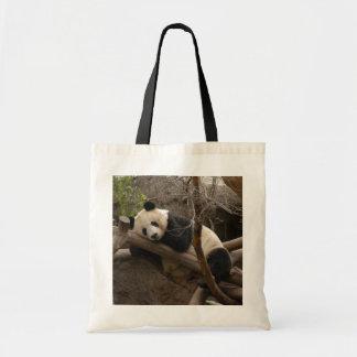 Bolso del oso de panda gigante y de la panda del b bolsa de mano