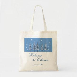 Bolso del país de las maravillas del invierno bolsa lienzo