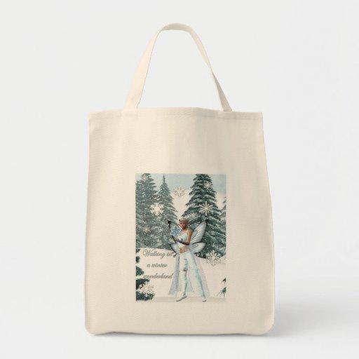 bolso del país de las maravillas del invierno bolsa